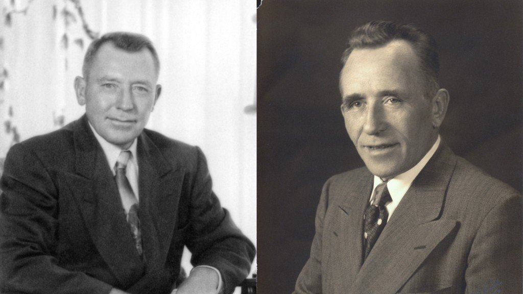 Ray and Koop Ferwerda, inventors of the Gradall excavator.
