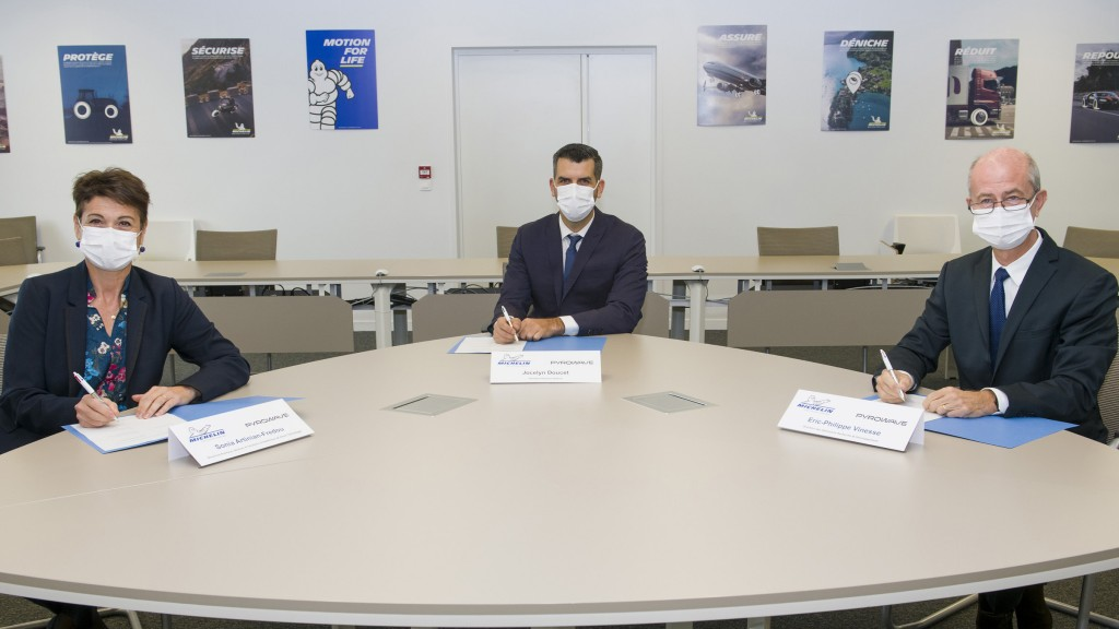 Signature of the Pyrowave-Michelin partnership