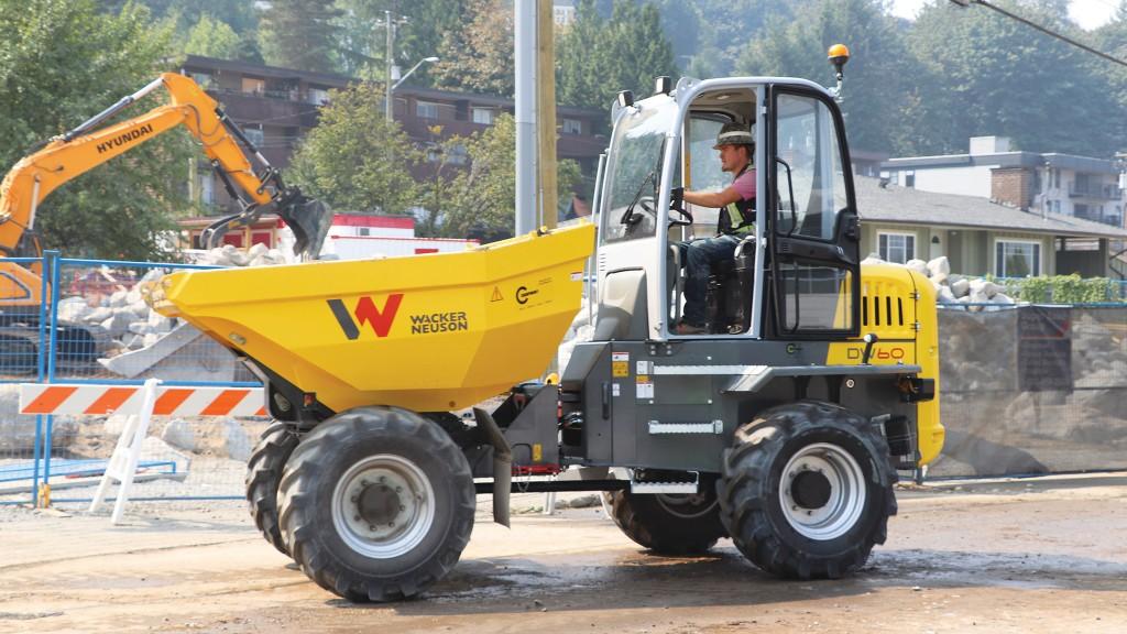 Wacker Neuson site dumper driving on jobsite