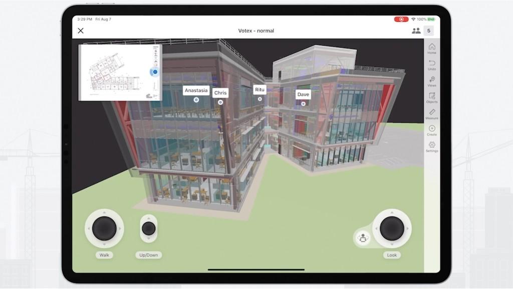 Follow Me on screen in Procore BIM software