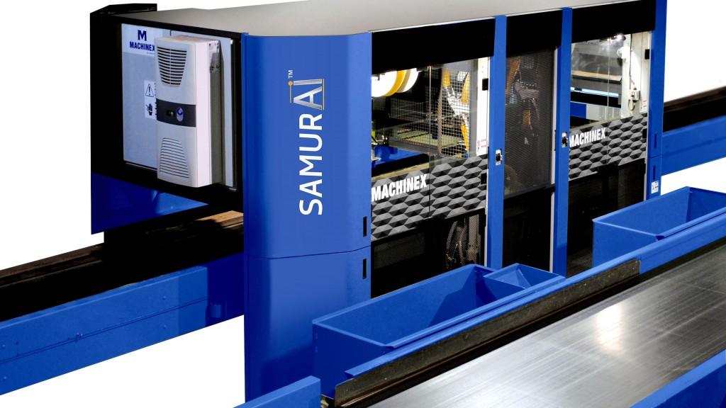 The Machinex SamurAI robot sorting machine