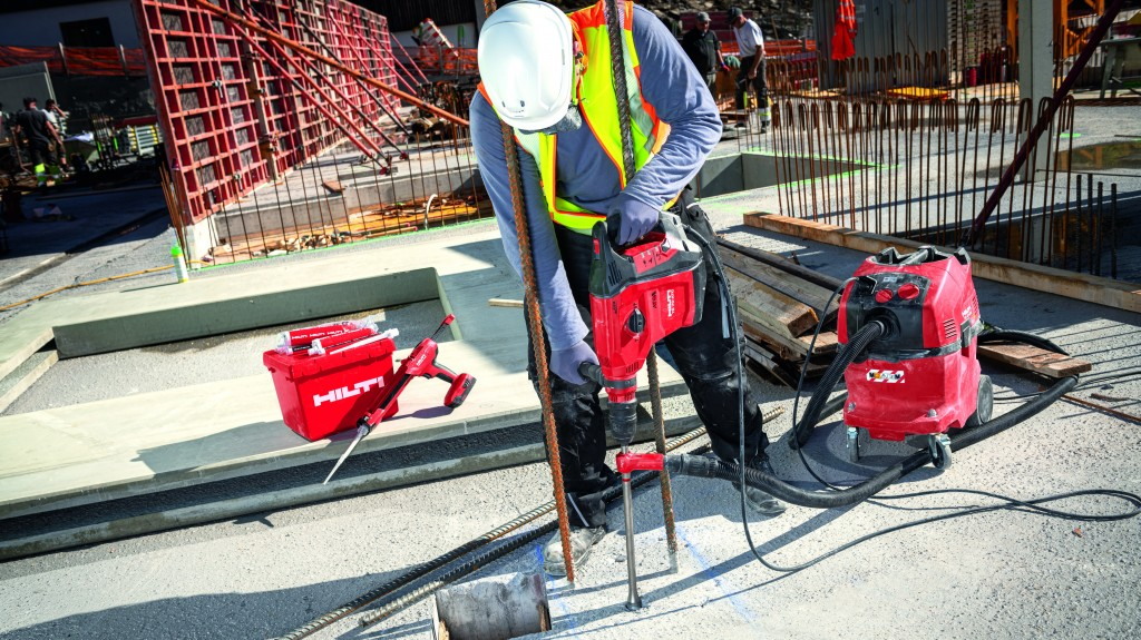 man using a next generation TE 70-ATC/AVR concrete hammer tool