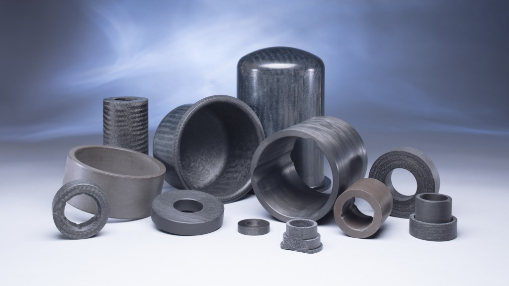 a grouping of Greene Tweed wear resistant and abrasion resistant pump components