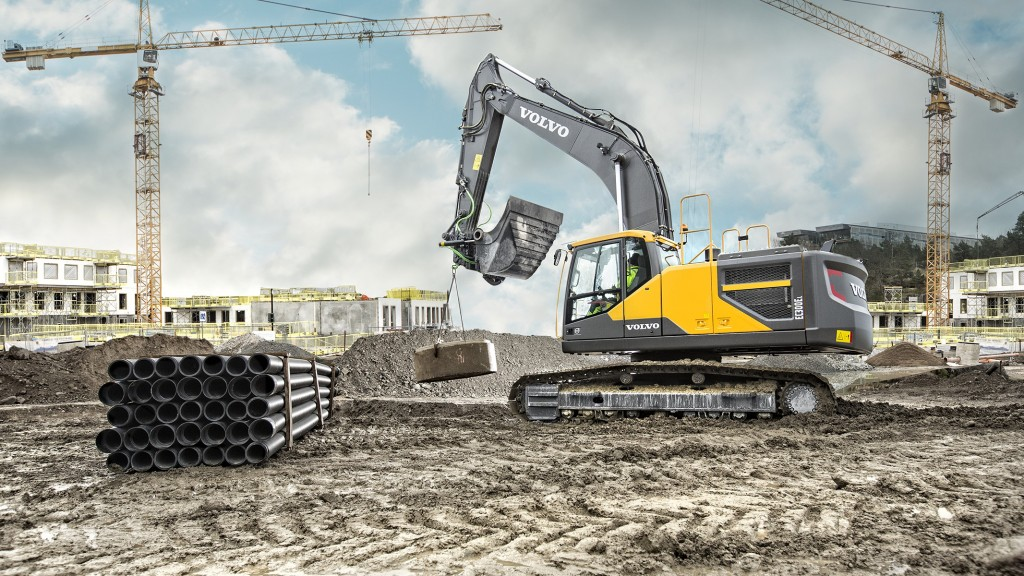 Volvo EC300E on a worksite