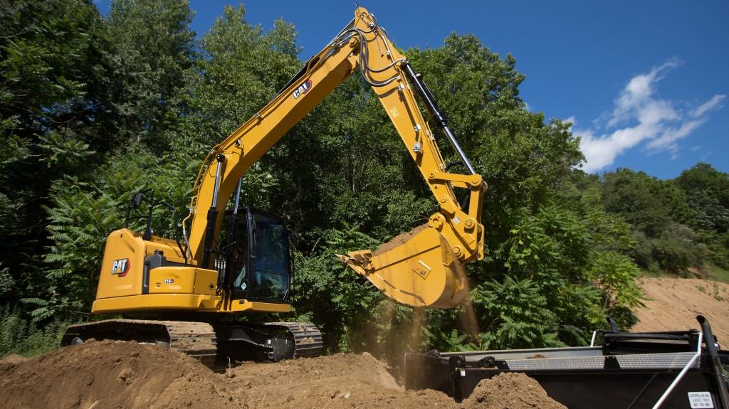 the Cat 315 GC next gen excavator on a worksite