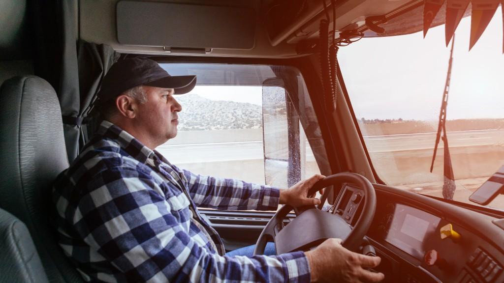 Driver in big truck