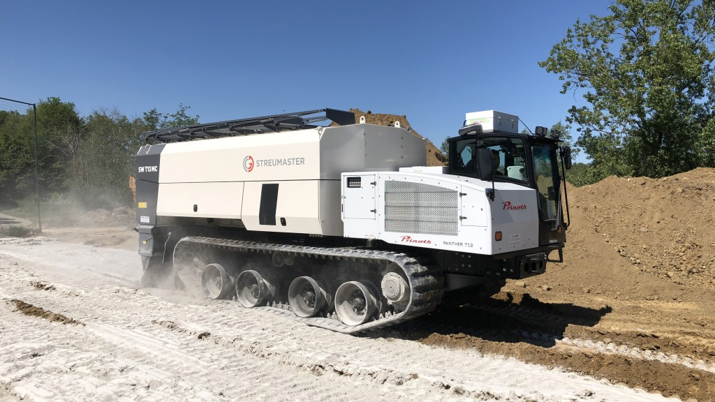 Prinoth and Streumaster develop market's largest off-road lime spreader