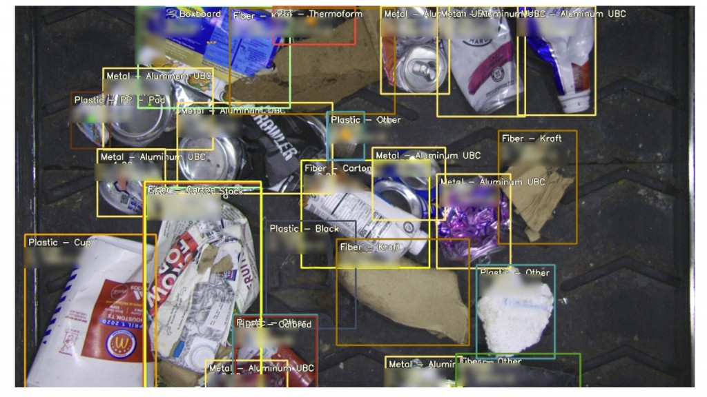 AI Vision identifies types of plastics