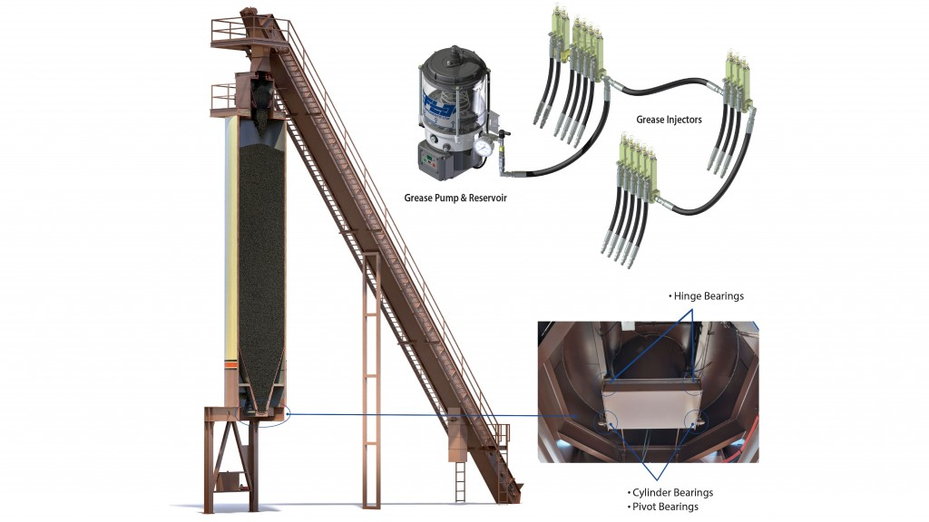 montage of components in storage silo operation