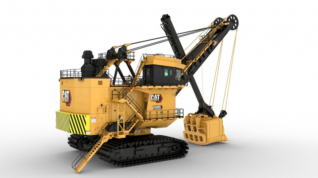 Cat 7495 electric rope shovel