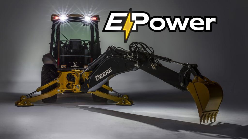 John Deere 310L backhoe loader with E-power