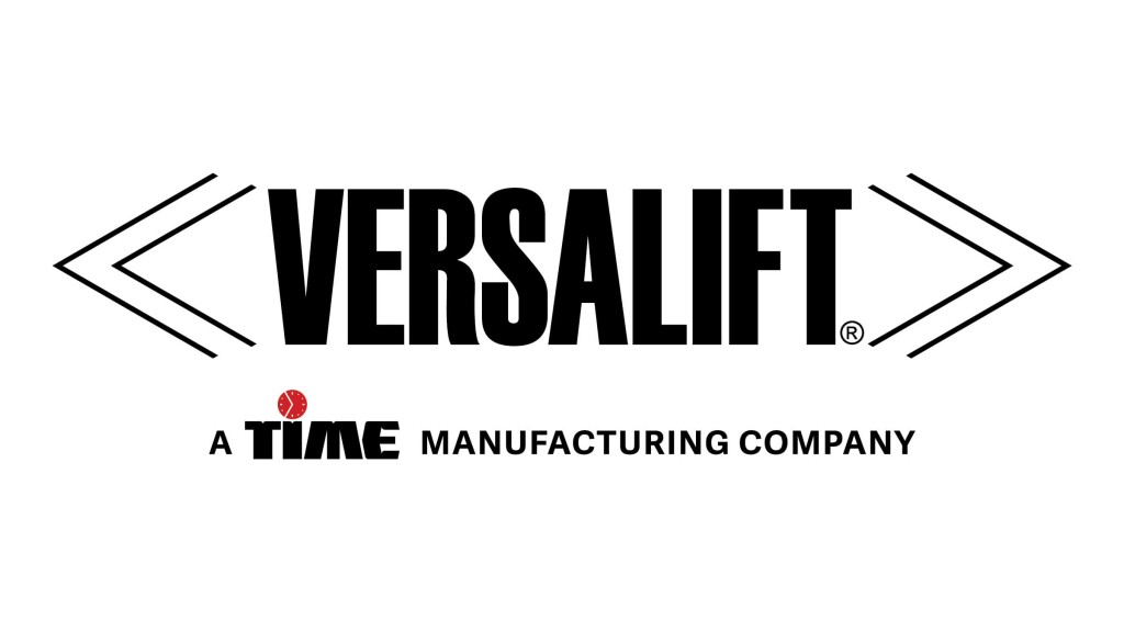 Versalift, a time manufacturing company logo