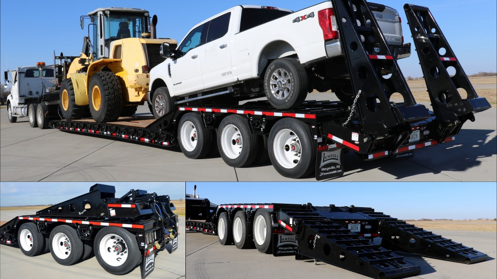 Landoll Trailers collage of trailers with new options attached