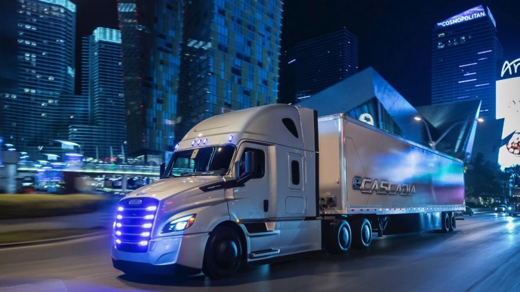 DTNA eCascadia vocational truck