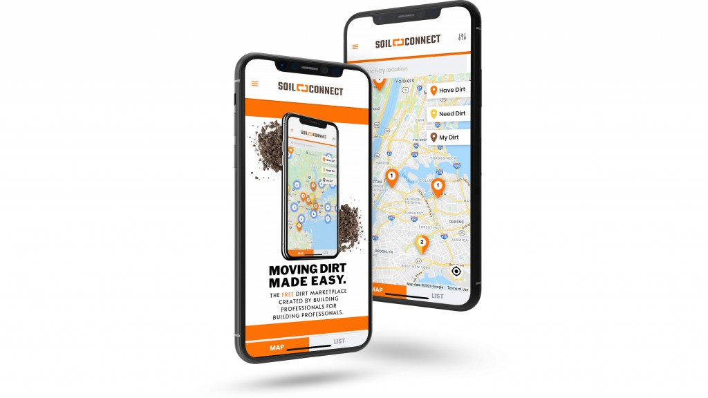 Soil Connect app on a phone