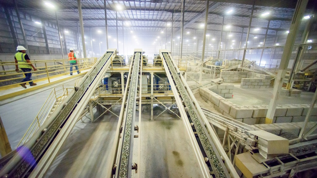Inside a Strategic Materials glass recycling facility, one of close to 50 in North America.
