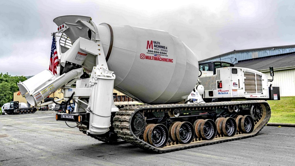 Prinoth and McNeilus collaborate to produce off-road concrete mixer