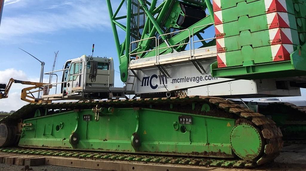 MCM receives delivery of Demag lattice boom crawler crane