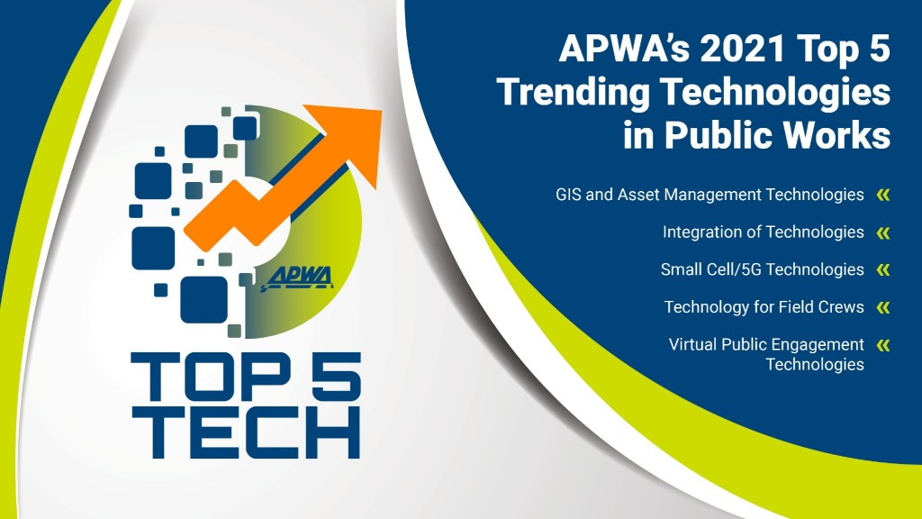 Public works professionals select top five trending technologies for 2021