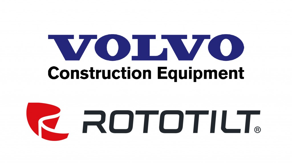 Rototilt and volvo logos
