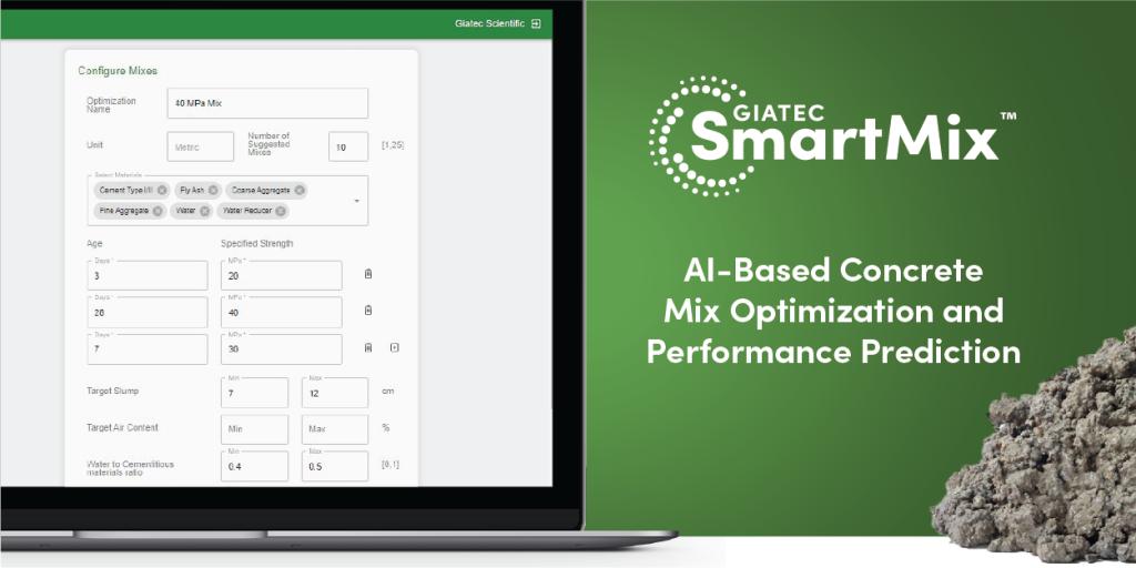 Giatec's AI-based SmartMix application improves concrete mix performance, reduces emissions