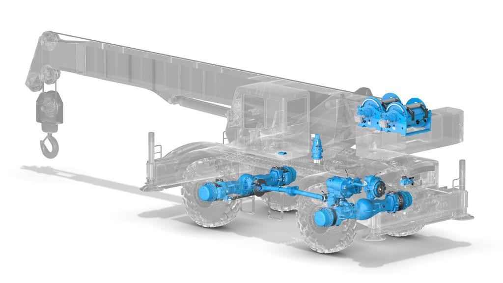 Dana heavy-duty drivetrain for rough-terrain crane