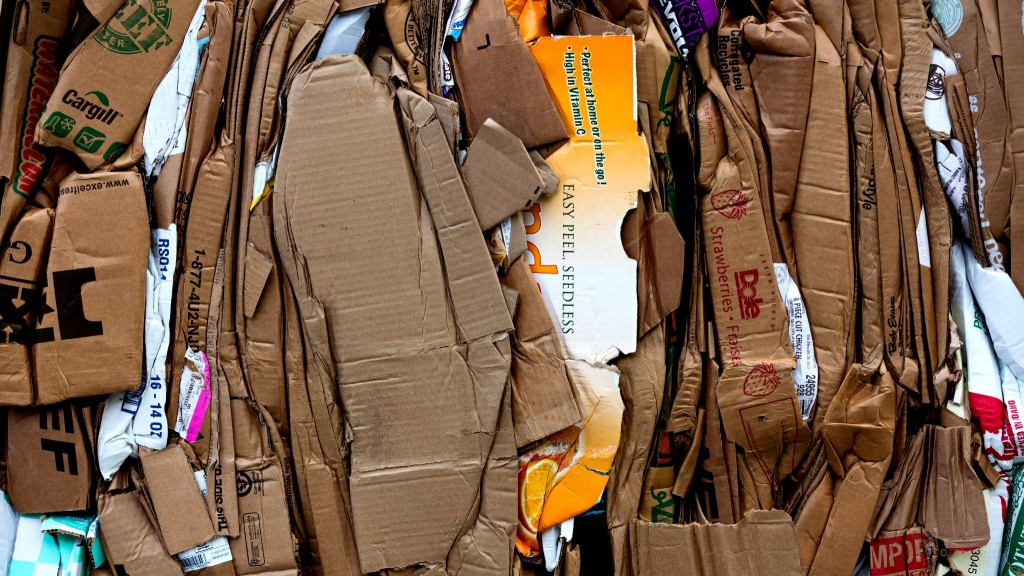 pile of recovered cardboard