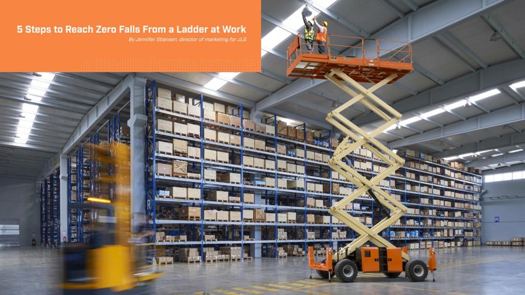 JLG joins ALI's National Ladder Safety Month initiatives
