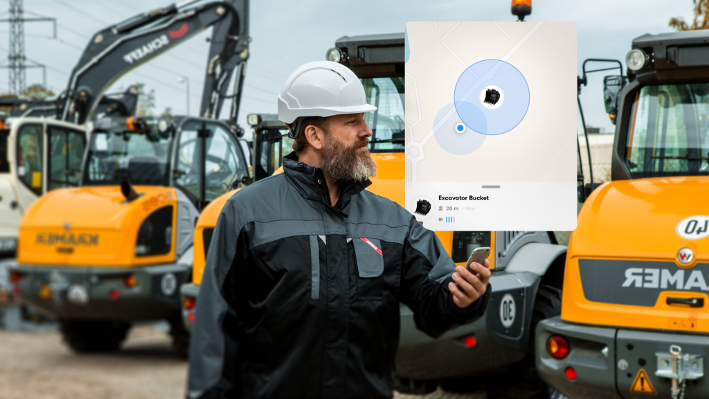 Trackunit Kin enables tracking of non-powered construction site assets