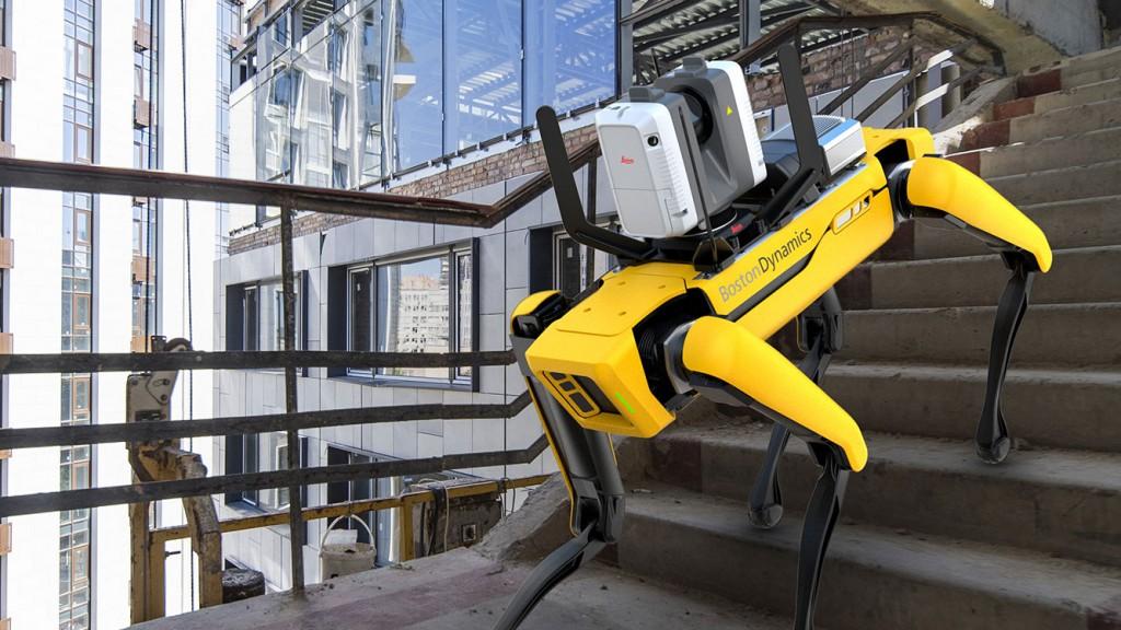 Boston Dynamic's Spot robot climbing steps