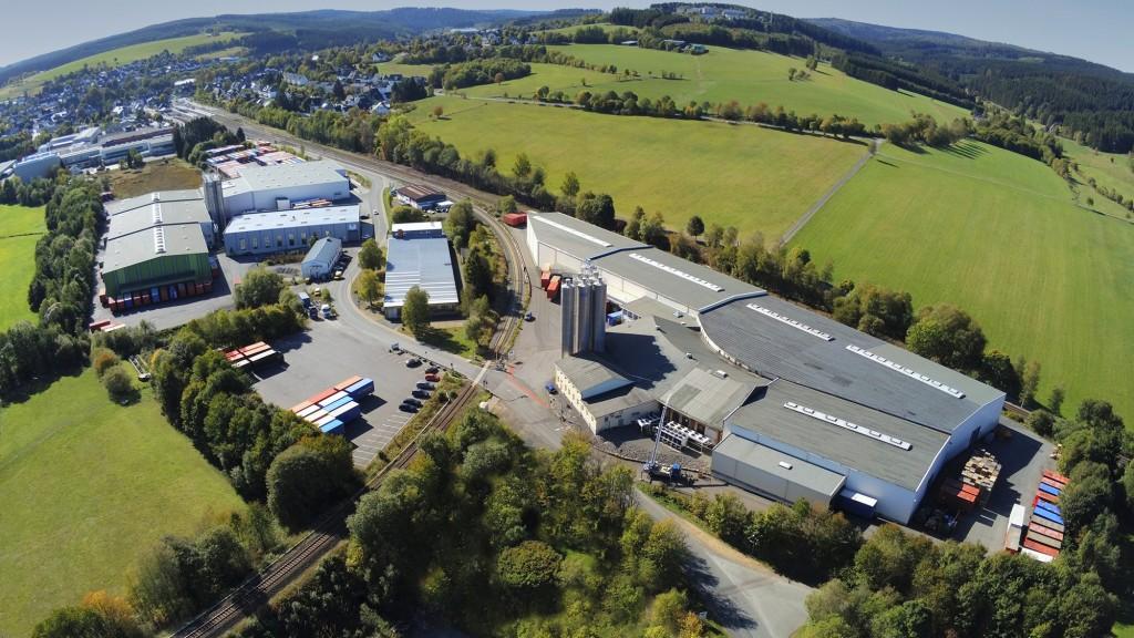 aerial view of AST Kunststoffverarbeitung GmbH headquarters in Erndtebrück, Germany