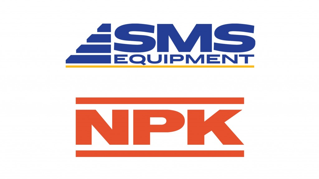 SMS Equipment and NPK Attachments logos