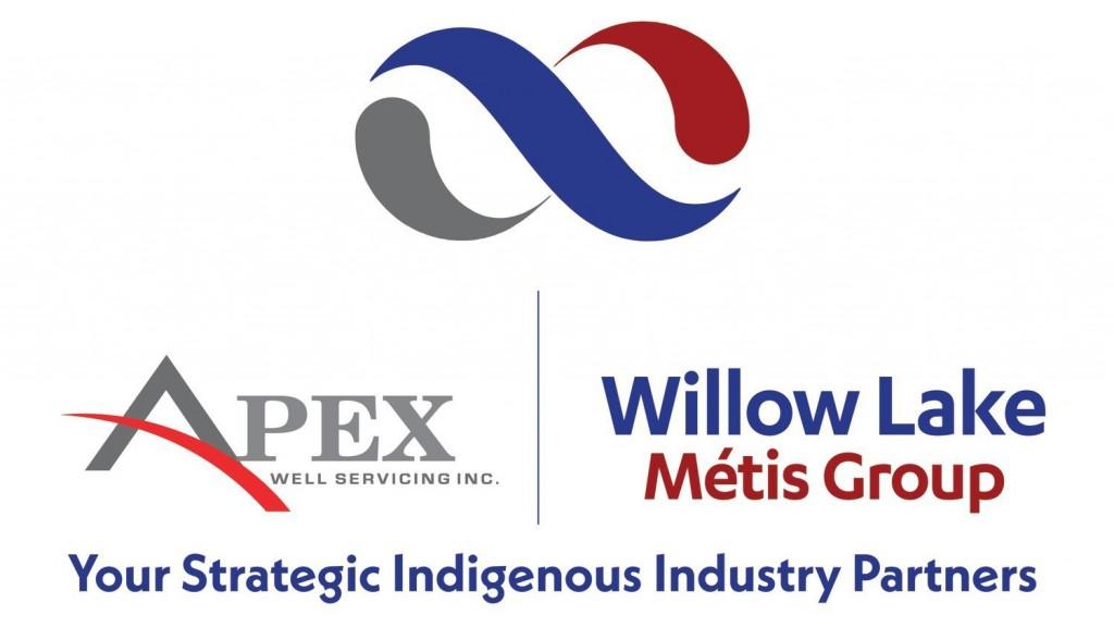 Apex and Willow Lake Métis Group logo amalgamation