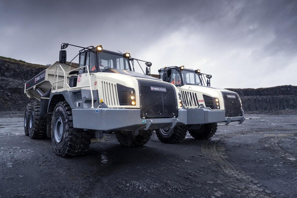 two Terex Truck articulating haulers
