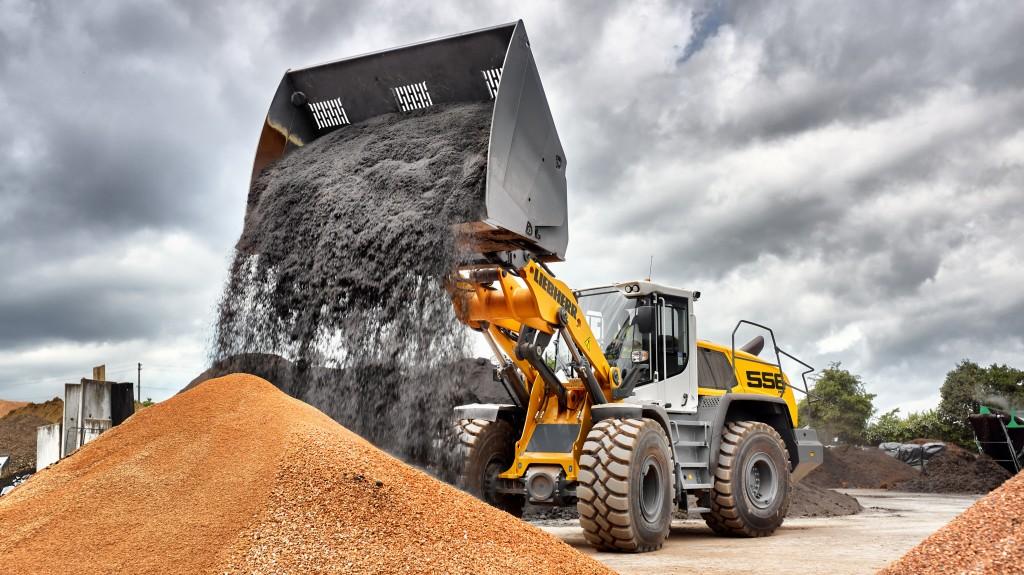 liebherr wheel loader l556 xpower high dump bucket