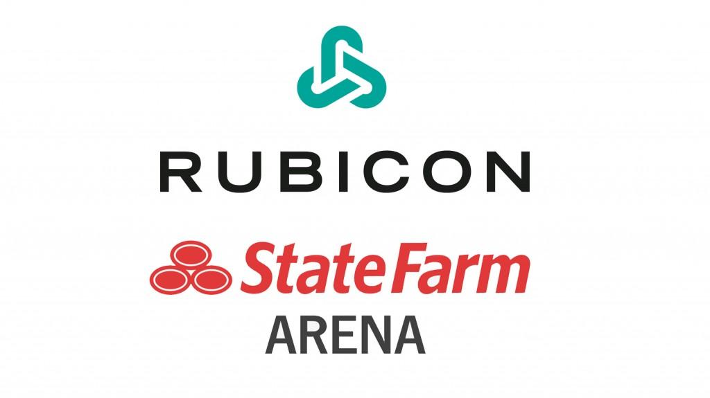 State Farm arena and rubicon logos