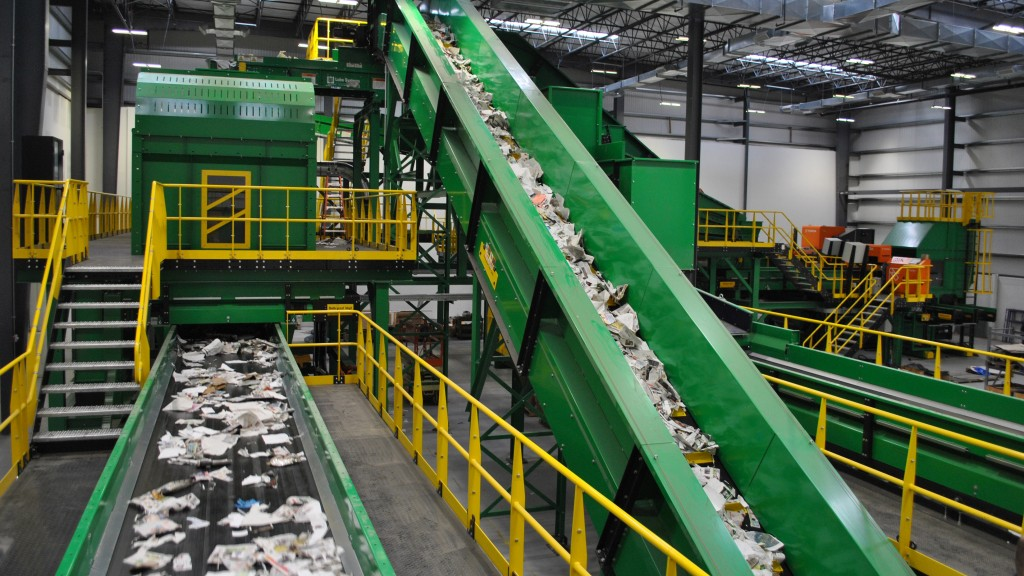 A Van Dyk Recycling MRF in a facility