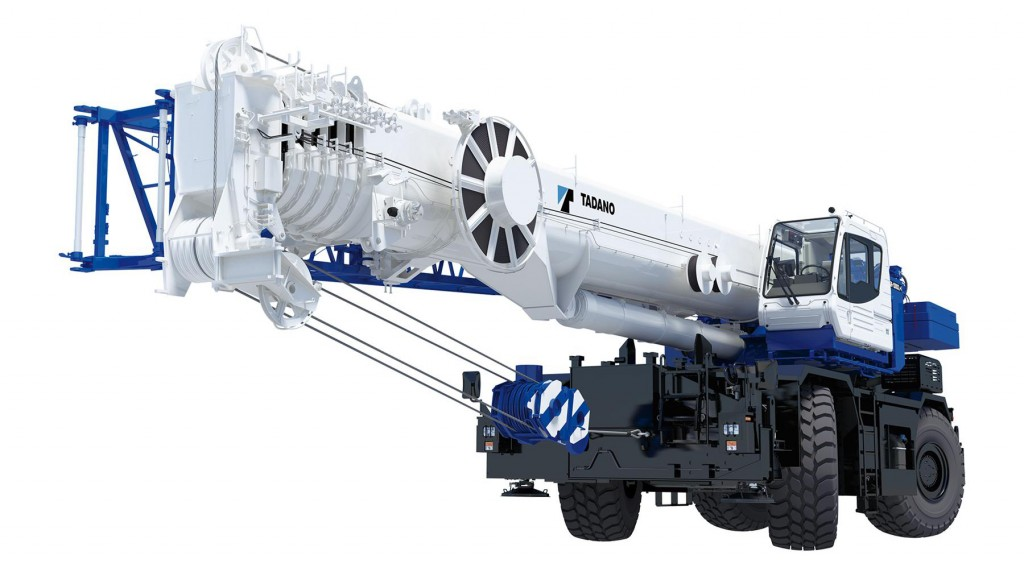 The Tadano GR-1300XL-4 rough terrain crane