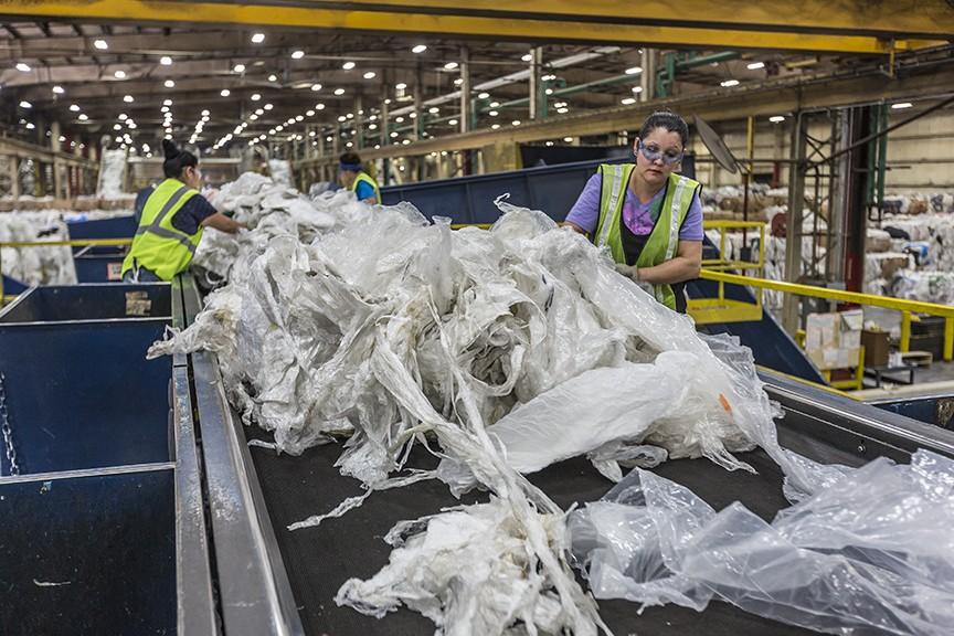 TREX plastic film recycling