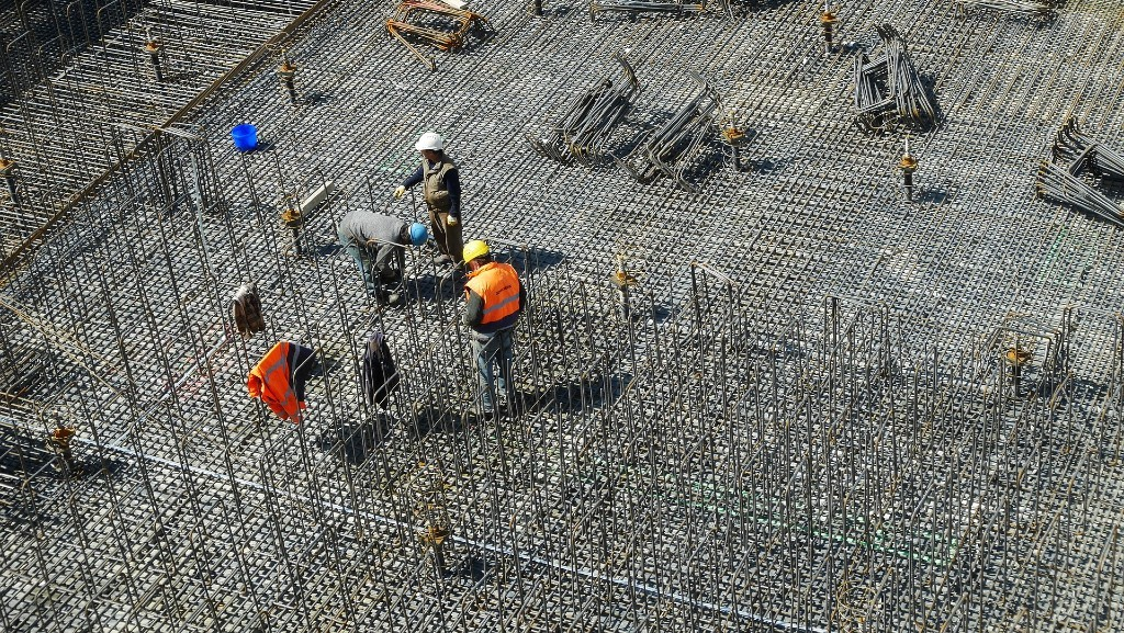 workers on a job site
