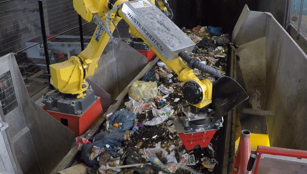 Waste Robotics robot in action
