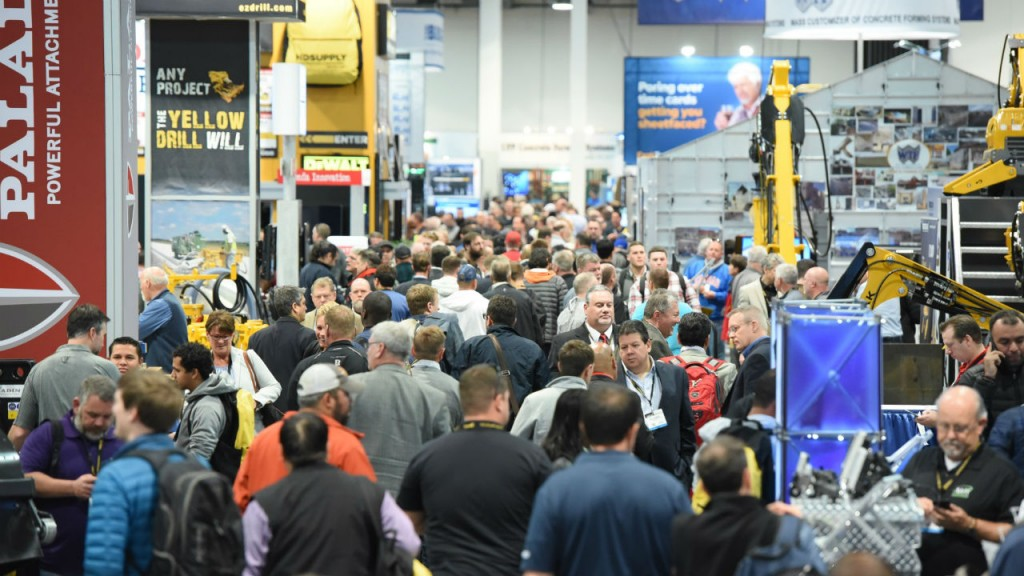 on the floor of world of concrete