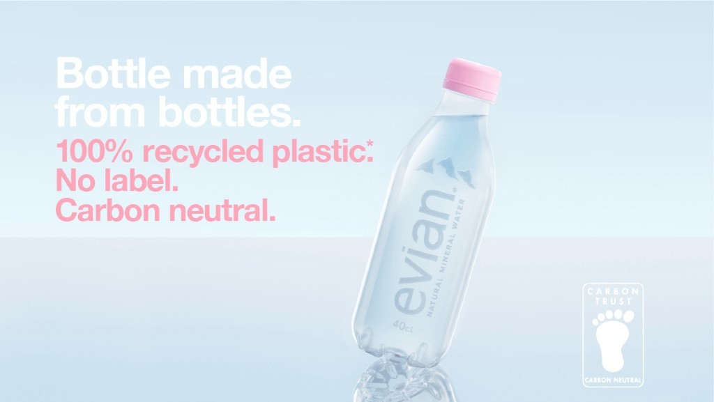 Evian launches its first label-free recyclable bottle