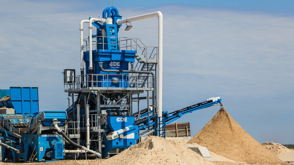 cde sand and aggregate plant processes frac sand