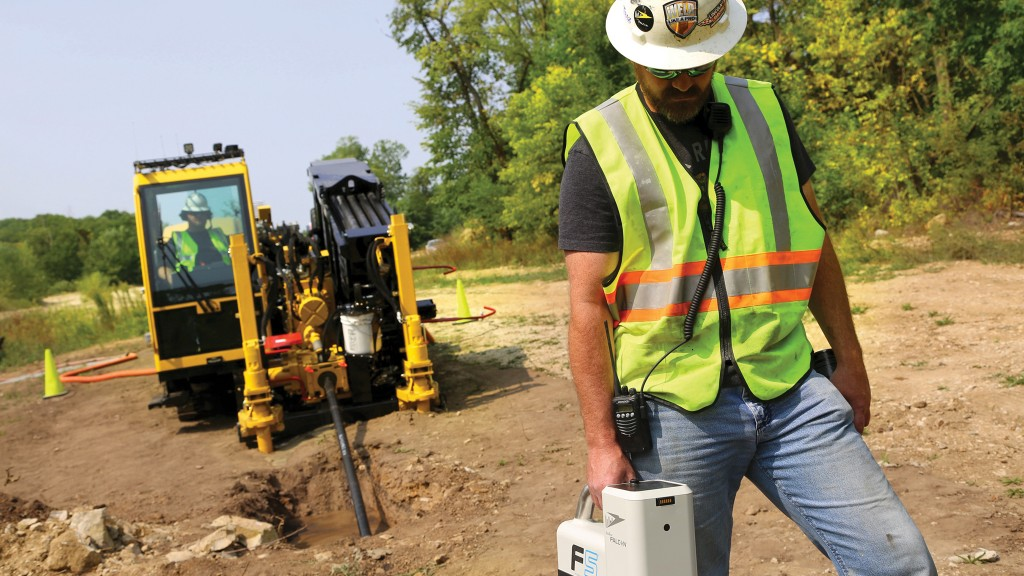 Dual-rod horizontal directional drill units like the Vermeer D40x55DR provide more drilling capability in rock than single-rod drills.