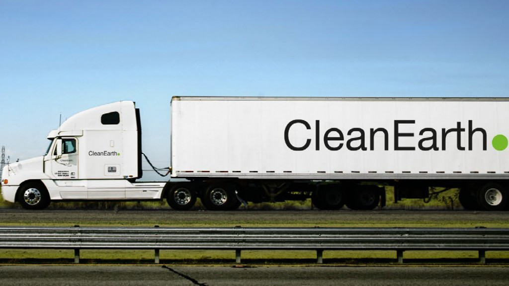 Clean Earth truck on highway
