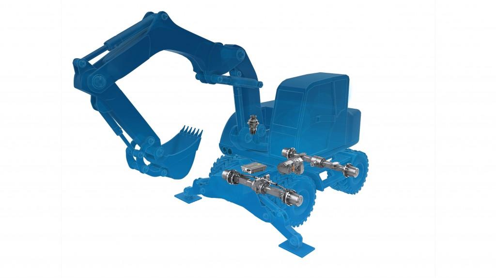 ZF electrified wheeled excavators