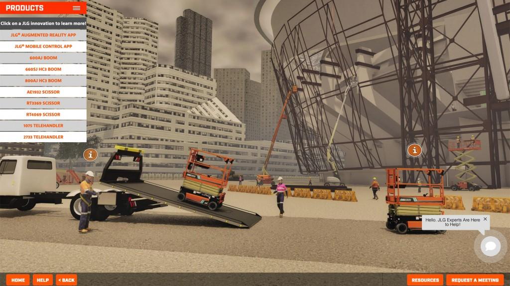 JLG construction app screenshot