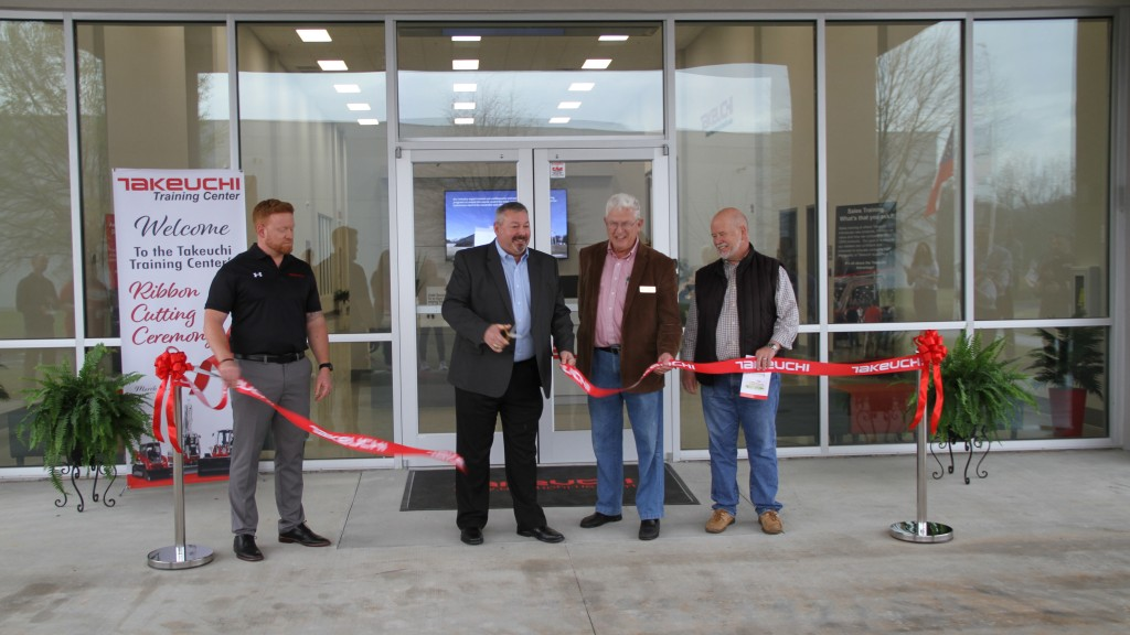 Takeuchi ribbon cutting ceremony and open house