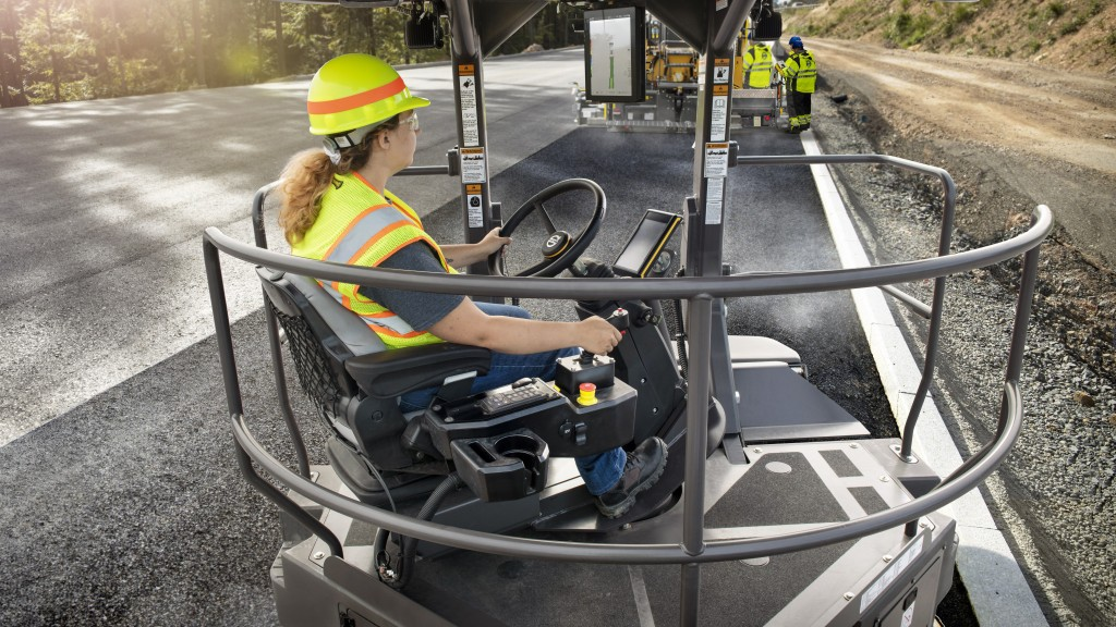 DD128C asphalt compactor with Compact Assist Intelligent Compaction System